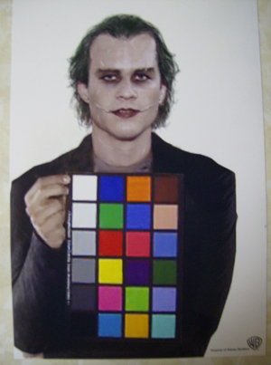 Batman Heath Ledger color chart