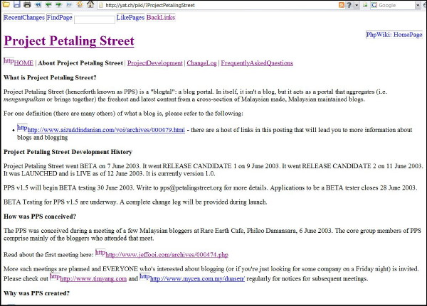 Project Petaling Street wiki screenshot