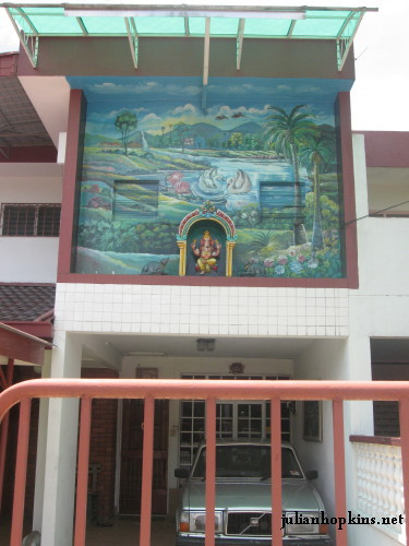 Suburban house with Lord Ganesh, Malaysia