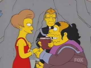 Klingon Comic Book Guy proposes to Edna Krabappel in My Big Fat Geek Wedding