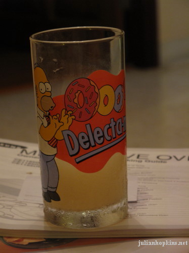 pastis in a homer simpson glass