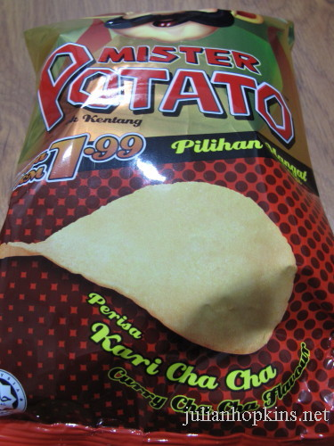 curry cha cha potato crisps