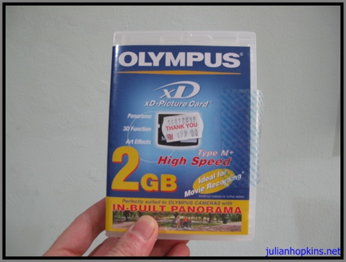 olympus XD card unsustainable packaging