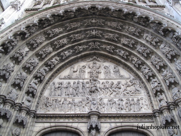 Cathedral of Our Lady Antwerp tympanum